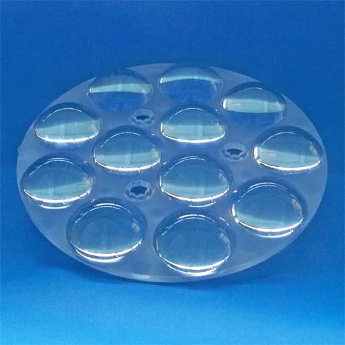 3~60degree Diameter 150mm 12in1 Dimmable Lighting LED lens for CREE |OSRAM|Citizen|Bridgelux COB LEDs(HX-CD150x12)